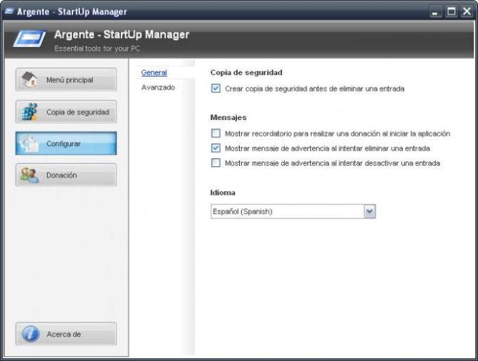 Argente - StartUp Manager