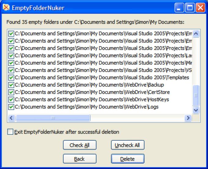 Empty Folder Nuker