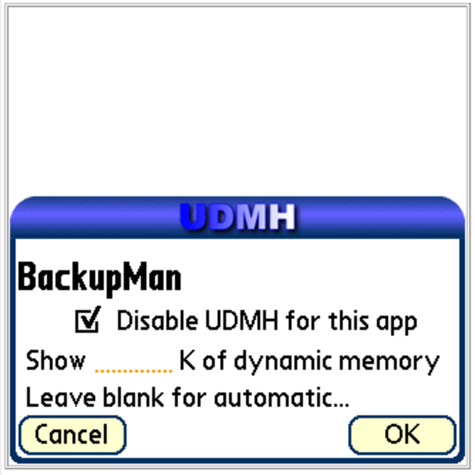 UDMH – Unlimited Dynamic Memory Hack