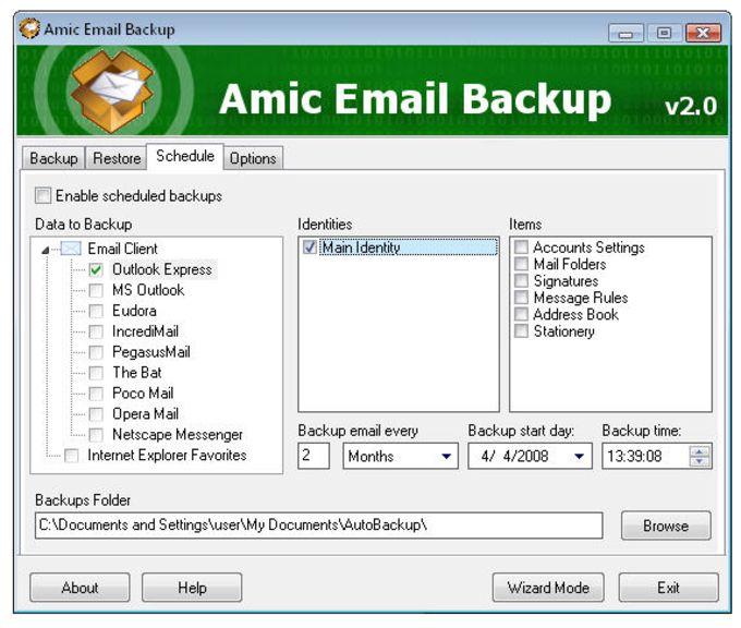 Amic Email Backup