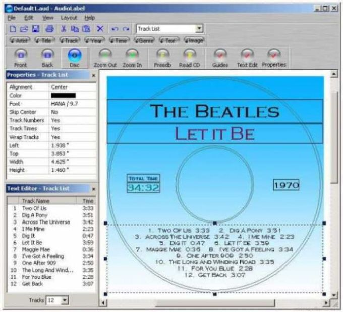 AudioLabel CD Label Maker
