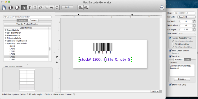 Mac Barcode Generator (Mac) - Download