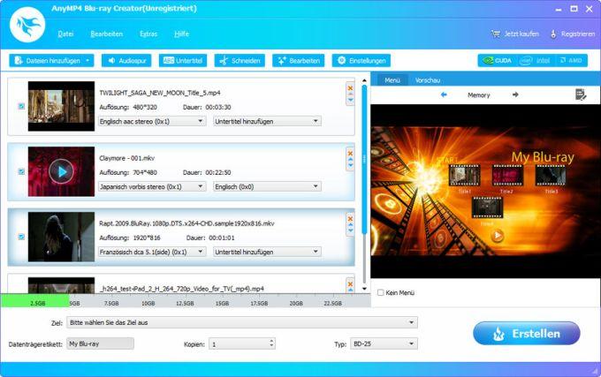 AnyMP4 Blu-ray Creator