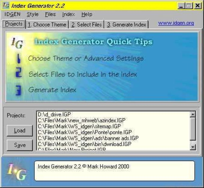 Index Generator