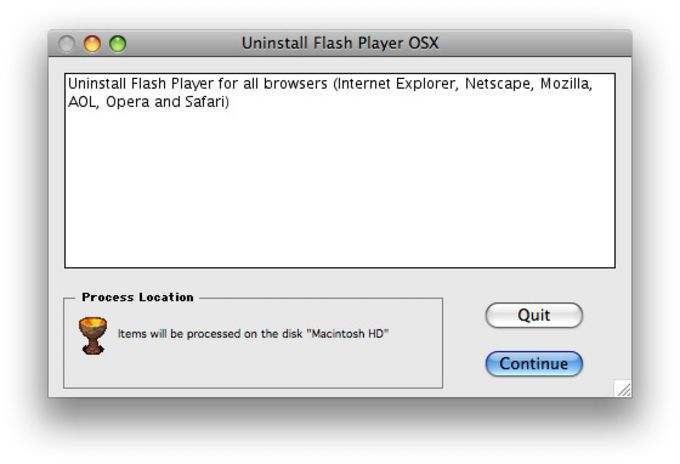 Flash Player Uninstaller