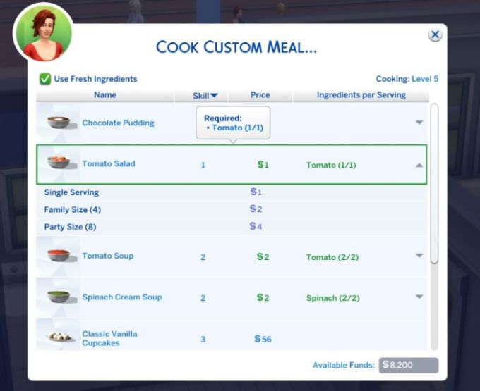 Custom Food Interactions mod for The Sims 4