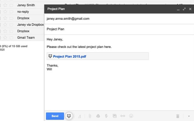 Dropbox for Gmail - Chrome Extension