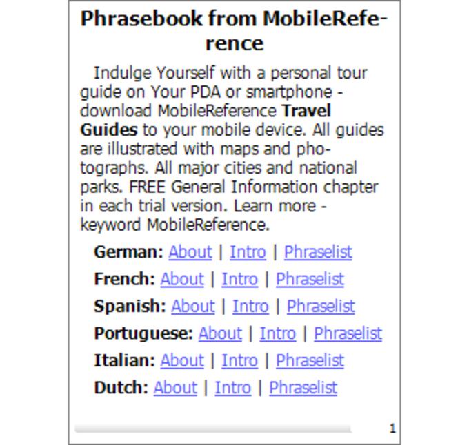 Free 25 Language Phrasebook