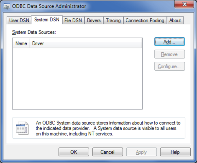 Oracle ODBC driver