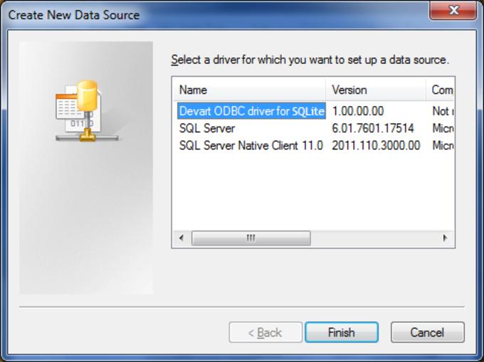 SQLite ODBC driver