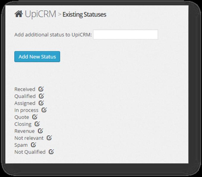 Wordpress CRM Plugin - UpiCRM
