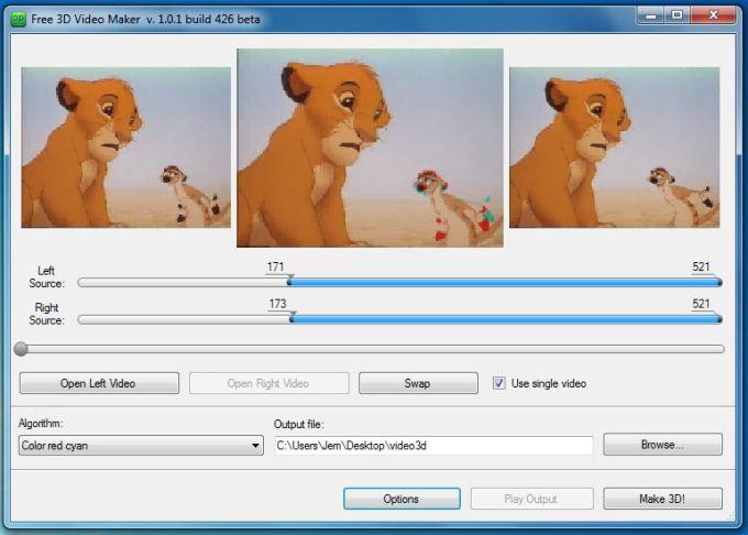 Free 3D Video Maker