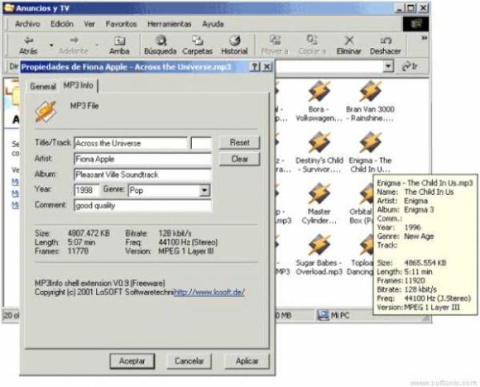 MP3Info Shell Extension