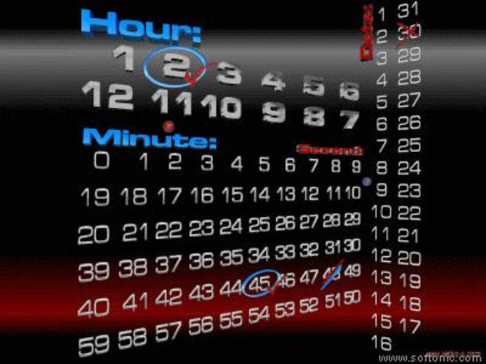 Time Calendar Screensaver