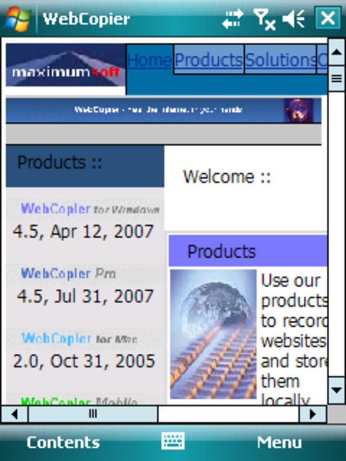 WebCopier Mobile