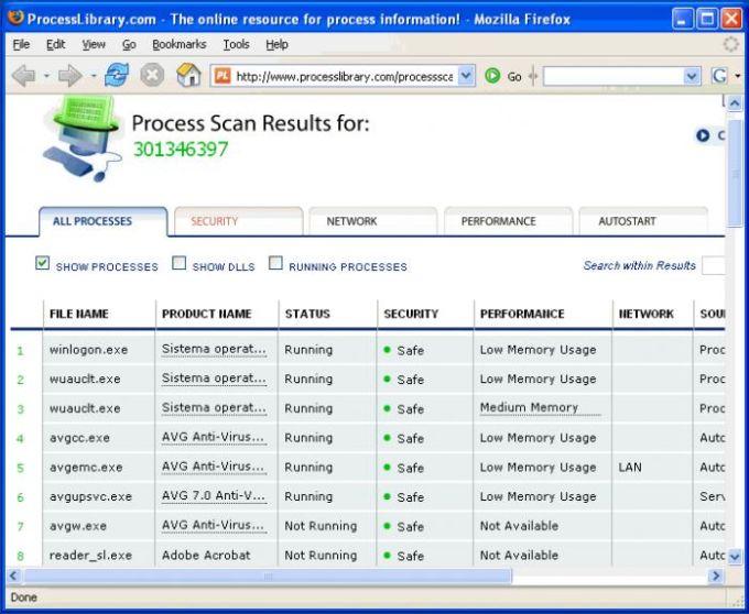 Process Scanner