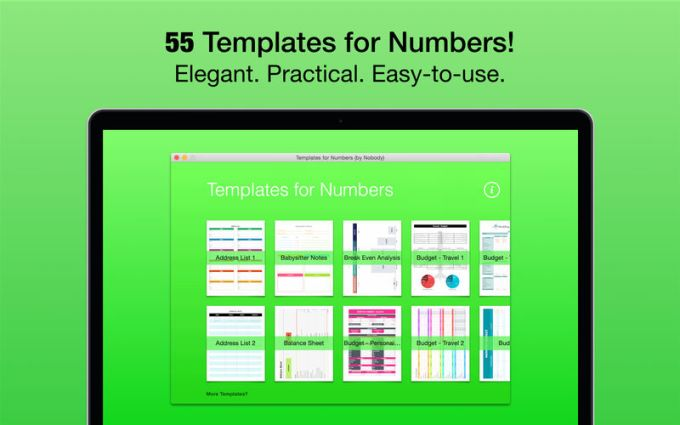 Templates for Numbers (by Nobody)