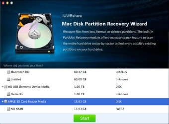 Mac Disk Partition Recovery Wizard