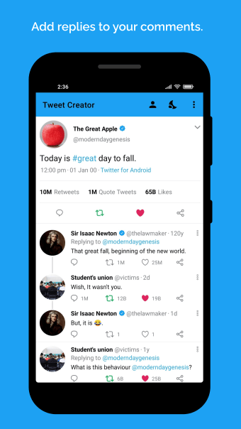 Fake tweet creator