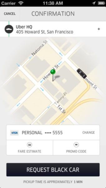 Uber - Request a ride