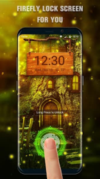 Firefly Fingerprint Lock Screen for Prank
