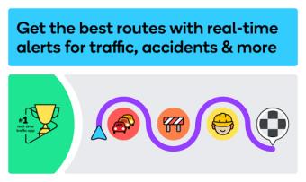 Waze - GPS Maps Traffic Alerts  Live Navigation