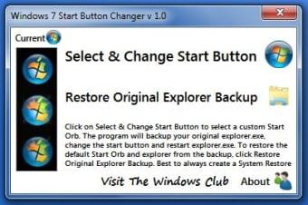 Windows 7 Start Button Changer
