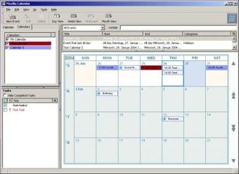 Calendar for Mozilla Firefox