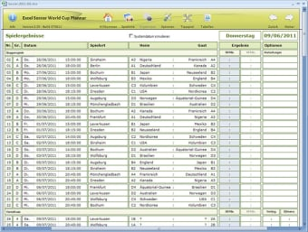 Excel Soccer World Cup Planner