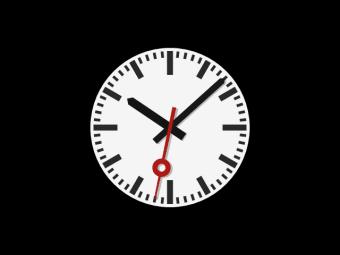 Analog DIN clock screensaver