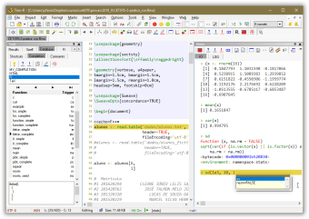 Tinn-R: Editor - GUI for R Language and Environment