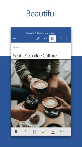 Microsoft Word: Write Edit  Share Docs on the Go