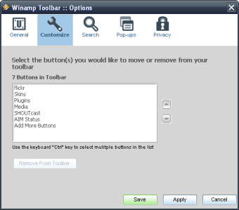 Winamp Toolbar