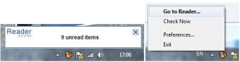 Google Reader Notifier for Windows