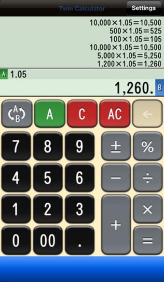 Twin電卓 【 Twin Calculator 】ツイン電卓