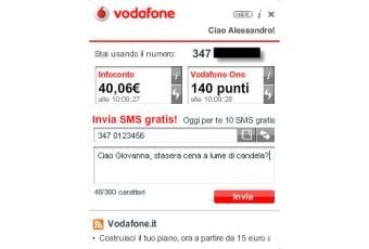Widget Vodafone.it