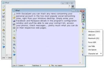 XPad text editor