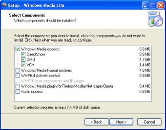 Windows Media Lite