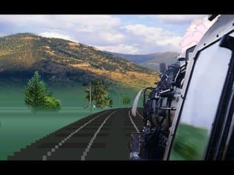 Bildschirmschoner Virtuelle Bahnfahrt