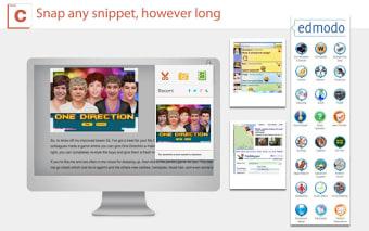 Screen capture, screenshot share/save
