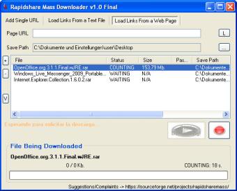Rapidshare Mass Downloader (RMD)