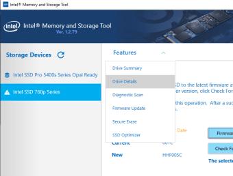 Intel Memory and Storage Tool