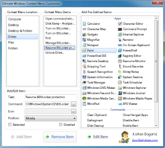 Ultimate Windows Context Menu Customizer