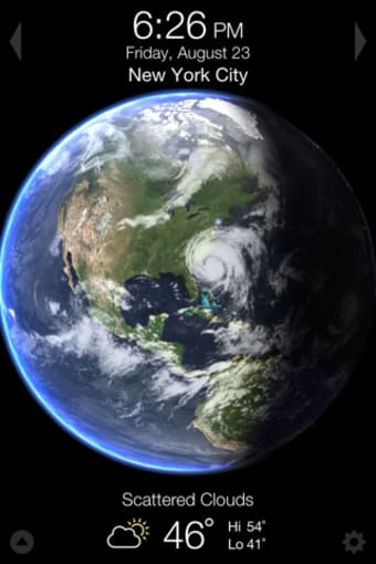 Living Earth - Clock  Weather