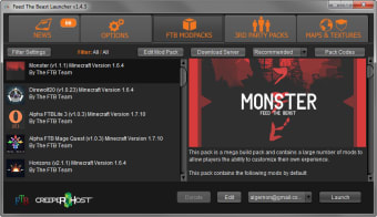 Feed The Beast Launcher: modpacks for Minecraft