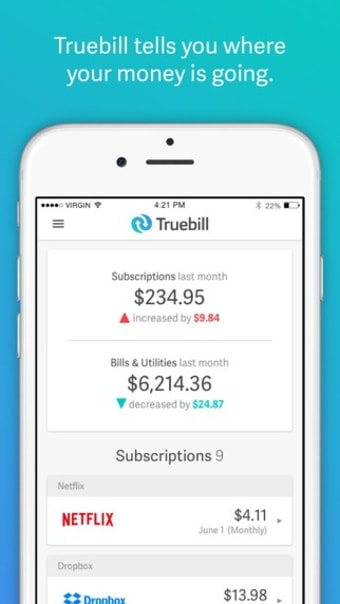 Truebill for Mobile