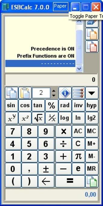 ESBCalc - Freeware Portable Calculator