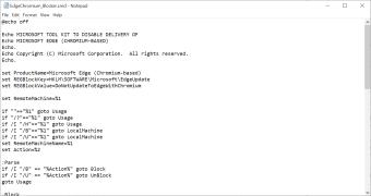 Microsoft Edge Chromium Blocker Toolkit
