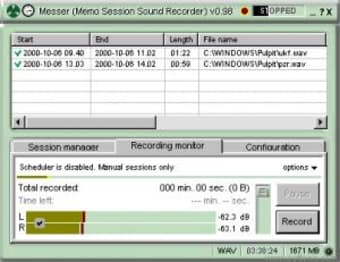 Messer – Memo Session Sound Recorder