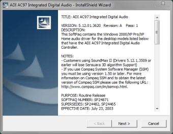 ADI SoundMax AC97 Integrated